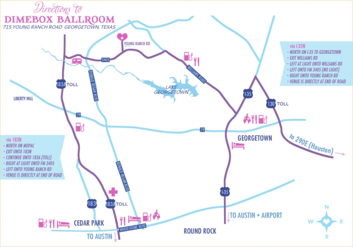 Directions to Dimebox Ballroom